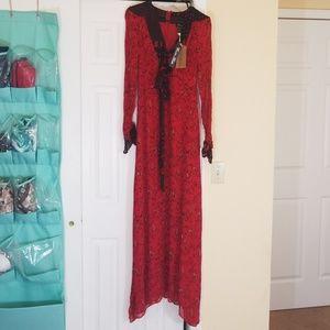 Winter Kate Sweetrose Maxi Dress /100% VTG Silk